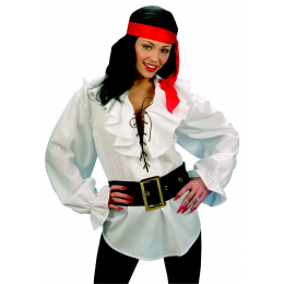 Chemise blanche pirate